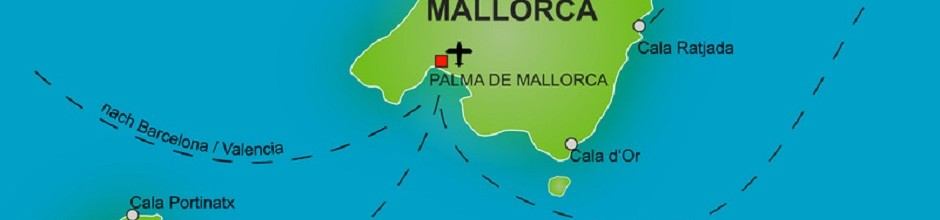 Karte Balearen