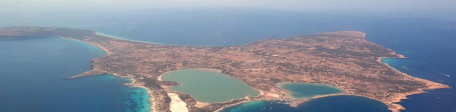Aerial view of Formentera. Island near Ibiza.
